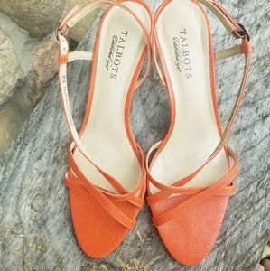TALBOTS ORANGE SANDALS/HEELS